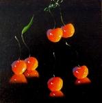 Öl, Kirsche, Obst, Silvia Bartsch, Malerin