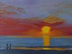 Sonnenuntergang, Meer, Öl, Atelier Silvia Bartsch